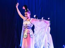 Зажиточная династия тяни 3 - китайское классическое шоу Танц-градации отдела танца стоковое изображение rf