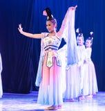Зажиточная династия тяни 5 - китайское классическое шоу Танц-градации отдела танца стоковая фотография rf