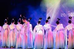 Зажиточная династия тяни 6 - китайское классическое шоу Танц-градации отдела танца стоковые фото