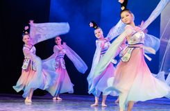 Зажиточная династия тяни 7 - китайское классическое шоу Танц-градации отдела танца стоковые изображения
