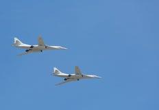 Зазвуковые стратегические бомбардировщики Tu-160 Стоковые Фотографии RF