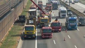 Зазор аварии после аварии тележки сток-видео