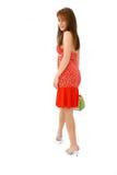 заинтересованная женщина стоковое изображение rf