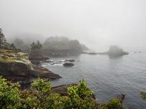 Заискивание накидки в тумане Стоковое Изображение