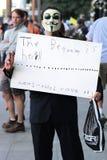 займите протест Стоковая Фотография
