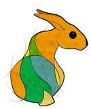 Зайцы на белой предпосылке Стоковые Фотографии RF
