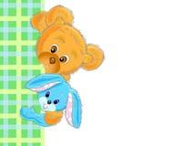 зайцы приветствию карточки медведя Стоковое Изображение RF