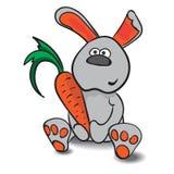 Зайцы с морковью Стоковые Изображения RF