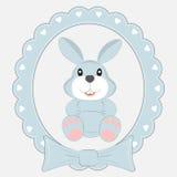 Зайцы шаржа поздравительной открытки милые Стоковые Фото
