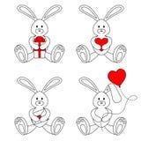 Зайчики валентинки контура Стоковые Фотографии RF