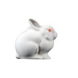 Зайчик кролика пасхи, статуя i фаянса фарфора зайцев малая Стоковые Изображения RF