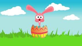 Зайчик пасхи в пасхальном яйце