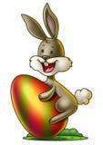 Зайчик с пасхальным яйцом 2 Стоковые Изображения RF