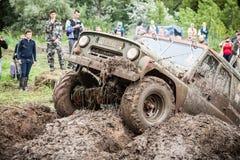 Заказные внедорожные яма грязи трофея UAZ 469 проходя Стоковые Фотографии RF