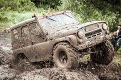Заказные внедорожные яма грязи трофея UAZ 469 проходя Стоковое Изображение