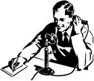 Заказ телефоном иллюстрация вектора