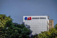 Заказ юристов Бразилии - OAB - бразильская ассоциация юристов - Brasilia, Distrito федеральное, Бразилия стоковое фото rf