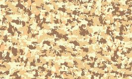 Закамуфлируйте военную безшовную предпосылку картины Текстура пустыни песка печати повторения camo классического стиля одежды мас иллюстрация вектора