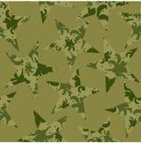 Закамуфлируйте картину звезд, цветков и горохов также вектор иллюстрации притяжки corel иллюстрация штока