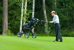заканчивает игрока в гольф его japaneese качание стоковые изображения