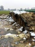 Заквашенный корм для животных под зеленым брезентом на поле i Стоковые Фотографии RF