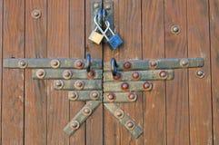 заклепки двери Стоковое Изображение RF