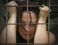 заключенные в турьму женщины стоковые изображения