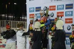 Заключительный этап IX BMW 24 кубка мира IBU биатлона 03 2018 Стоковое фото RF