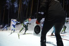 Заключительный этап IX BMW 24 кубка мира IBU биатлона 03 2018 Стоковые Изображения