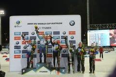 Заключительный этап IX BMW 24 кубка мира IBU биатлона 03 2018 Стоковые Фотографии RF