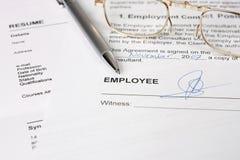 заключите контракт занятость стоковые изображения rf