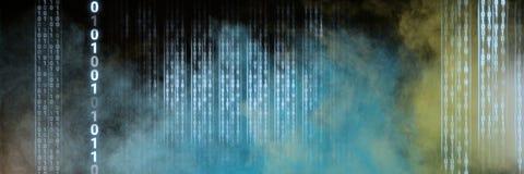 Закодируйте бинарный интерфейс и красочную предпосылку облаков иллюстрация вектора