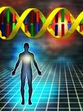 закодируйте генетическое иллюстрация вектора