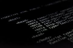 закодируйте интернет HTML Стоковое Изображение RF