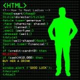 закодируйте людей HTML Стоковые Изображения RF