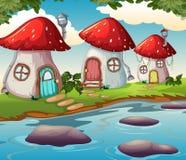Заколдованный дом гриба в природе бесплатная иллюстрация