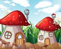 Заколдованный дом гриба в природе иллюстрация штока