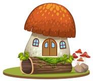 Заколдованный дом гриба на белой предпосылке иллюстрация вектора