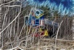 Заколдованный дом леса эльфов иллюстрация штока