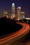 закоммутируйте ноча стоковая фотография rf