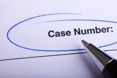 Законная форма обработки документов Стоковое Изображение