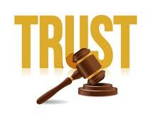 законный дизайн иллюстрации значка концепции доверия Стоковые Изображения