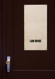 законовед двери к Стоковое фото RF