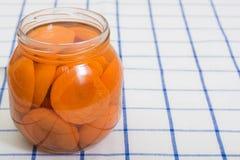 Законсервированные абрикосы Стоковые Изображения RF