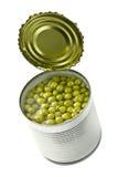 законсервированные зеленые горохи Стоковая Фотография RF