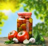 Законсервированные овощи и свеже Стоковое фото RF