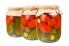 законсервированные овощи Стоковые Фото