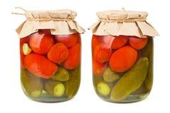 законсервированные овощи Стоковая Фотография