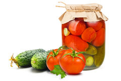 законсервированные овощи Стоковые Изображения