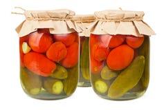 законсервированные овощи Стоковые Изображения RF